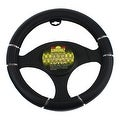 Simoniz Deluxe Steering Wheel Cover Triple Grip, Black - Thumbnail 0