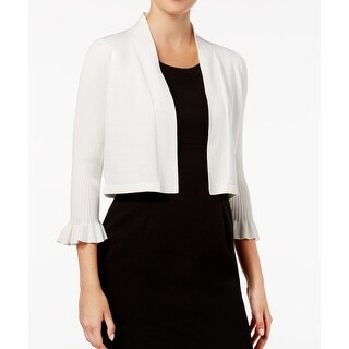 Calvin Klein NEW White Ivory Womens Size XL Open Front Cardigan Sweater