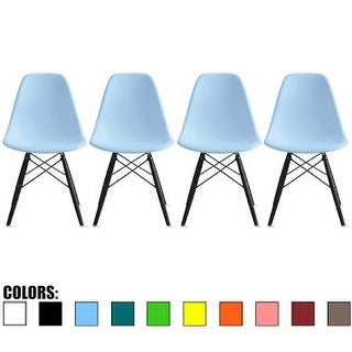 2xhome Modern Side Dining Chair Colors With Dark Black Wood Legs (Set of 4)