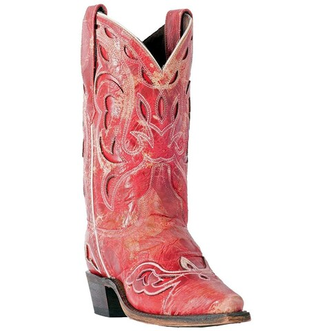Laredo Womens No More Drama Western Boot, Adult, Red