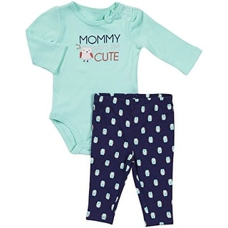 Carter's Baby Girls' Mommy Says I'm Cute- Turquoise - 24 Months
