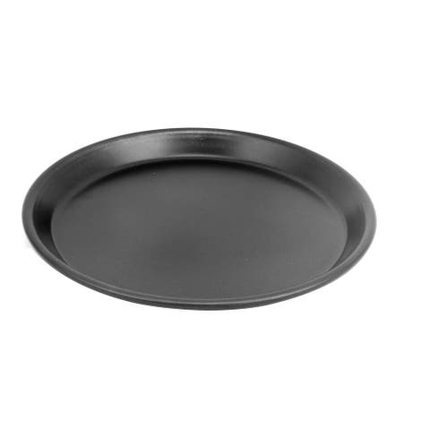 """8 Inch Black Metal Round Non-Stick Kitchen Catering Pizza Baking Pan - 8"""" x .8""""(D*H)"""