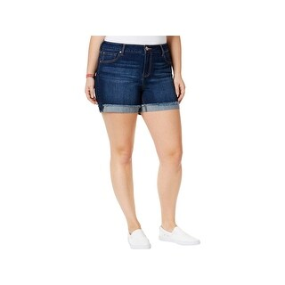 Celebrity Pink Womens Plus Denim Shorts Frayed Hem Frayed (3 options available)