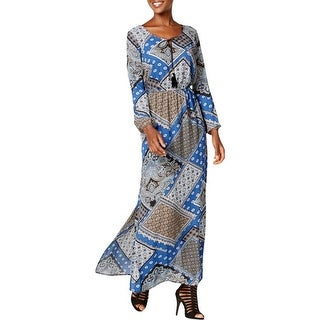 NY Collection Womens Maxi Dress Printed Side Slit