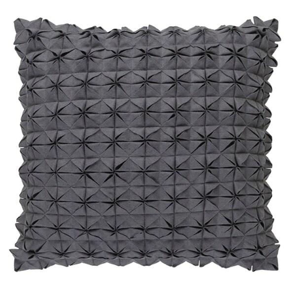 "18"" Origami Elegance Whale Gray Decorative Throw Pillow"