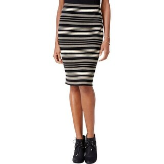 Rachel Rachel Roy Womens Pencil Skirt Metallic Striped