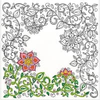 """Zenbroidery Stamped Embroidery 10""""X10""""-Garden"""