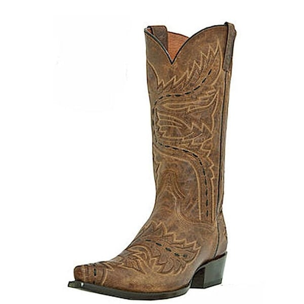 Dan Post Western Boots Men Sidewinder Snip toe Tan Madcat