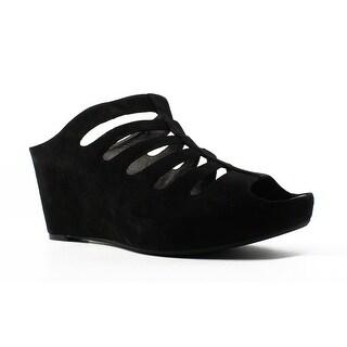 Johnston & Murphy Womens Tess Black Open Toe Heels Size 9.5