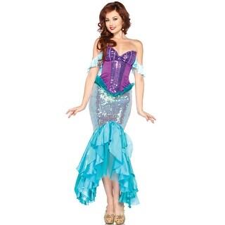 Leg Avenue Disney Princess Deluxe Ariel Adult Costume - Purple/Blue (2 options available)