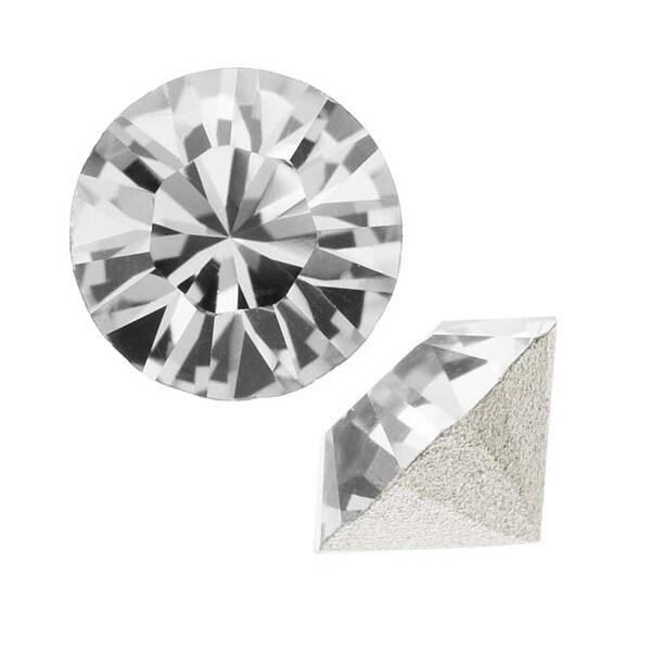 Swarovski Elements Crystal, 1088 Xirius Round Stone Chatons pp32, 24 Pieces, Crystal F