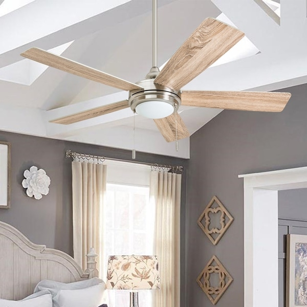Honeywell Ventnor Brushed Nickel Integrated LED Ceiling Fan. Opens flyout.