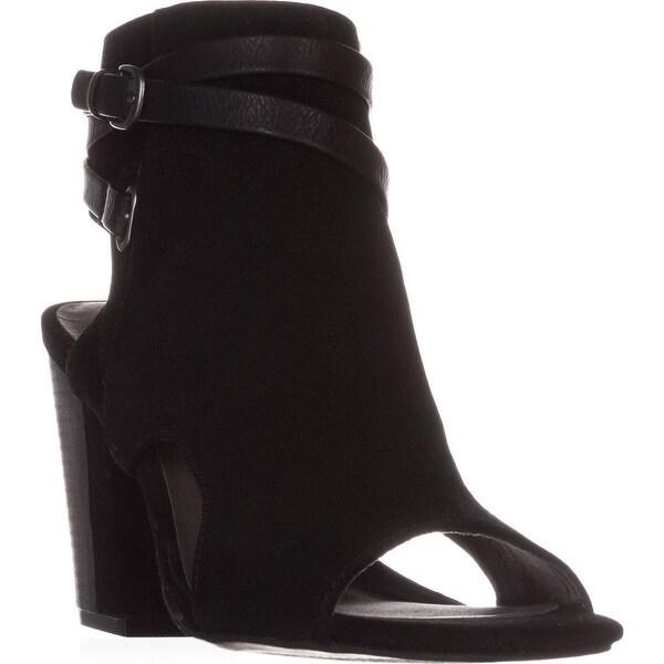 White Mountain Shira Block-Heel Dress Sandals, Black