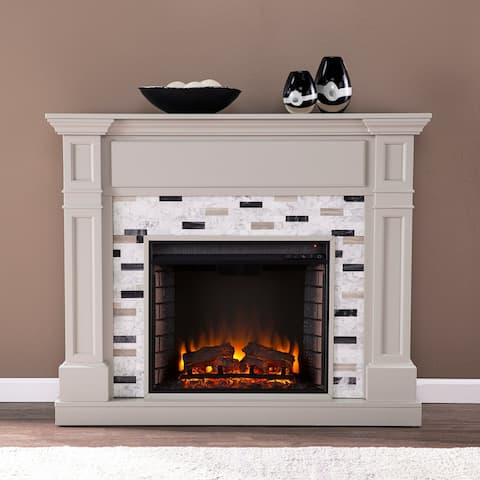 Harper Blvd Stonemere Electric Fireplace w/ Marble Surround