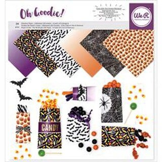 "Halloween Pattern; 6 Designs/4 Each - We R Memory Keepers Glassine Paper 12""X12"""