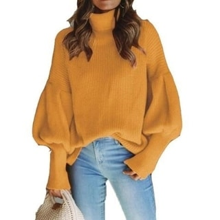 Link to Women's Sweater Casual Long Sleeve Loose Pullover Knit Sweater Jumper Top Similar Items in Women's Sweaters