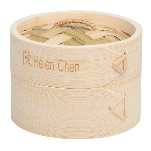 Helen's Asian Kitchen 97008 Bamboo Dim Sum Steamer with Lid, 4""