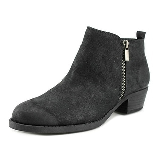 Carlos by Carlos Santana Brie Women Round Toe Canvas Black Ankle Boot