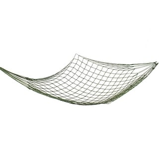 120Kg Load Capacity Tree Hang Hammock Mesh Net Sleeping Bed Army Green