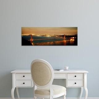 Easy Art Prints Panoramic Images's 'Suspension bridge, Golden Gate Bridge, San Francisco Bay, California' Canvas Art