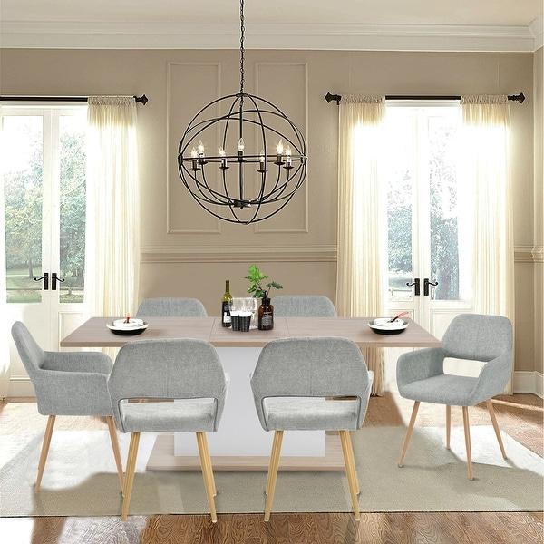 Carson Carrington Saimovaara Modern Linen Dining Chair (Set of 2). Opens flyout.