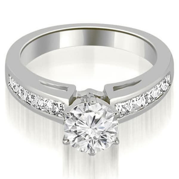 1.75 CT Channel-Set Round & Princess Diamond Engagement Ring in 14KT - White H-I. Opens flyout.