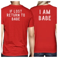 7daf51c9fd If Lost Return To Babe Red Matching T-Shirts Funny Couples Gifts