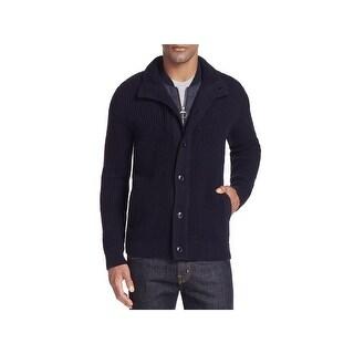 Barbour Mens Cardigan Sweater Wool Zipper - XL