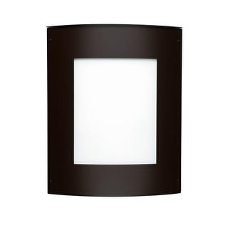 Besa Lighting 109-842207 Moto 2 Light ADA Compliant Outdoor Wall Sconce with White Glass Shade