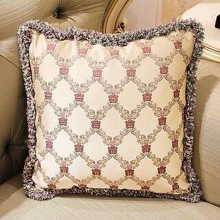 Hello Laura Embroidery Plush Edge Throw Pillow Cover Cushion