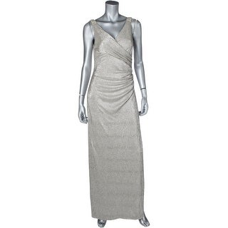 Lauren Ralph Lauren Womens Zilette Evening Dress Metallic Embellished
