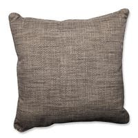 "25"" Taupe and Gray Chestnut Harbor Decorative Outdoor Corded Throw Pillow - Brown"