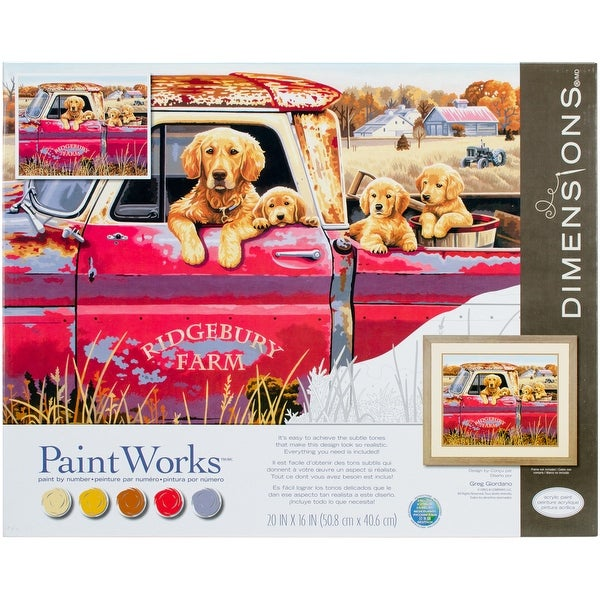 """Paint Works Paint By Number Kit 16""""X20""""-Golden Ride"""