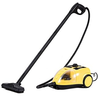 Costway 1500W Heavy Duty Steam Cleaner Mop Multi-Purpose Steam Cleaning 4.0Bar - YELLOW