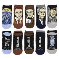 Doctor Who 10th 11th 12th Doctors Davros Strax 5-Pair No Show Low Cut Socks