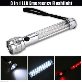 Floureon 3-in-1 XP-E LED Car Flashlight Magnetic Base Outdoor Hiking Light Torch