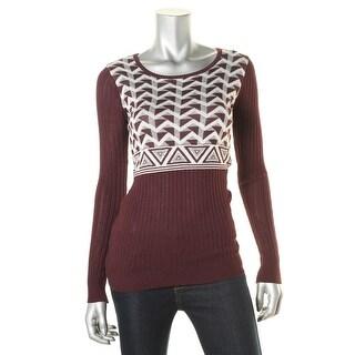 Energie Womens Juniors Celeste Printed Casual Pullover Sweater - M