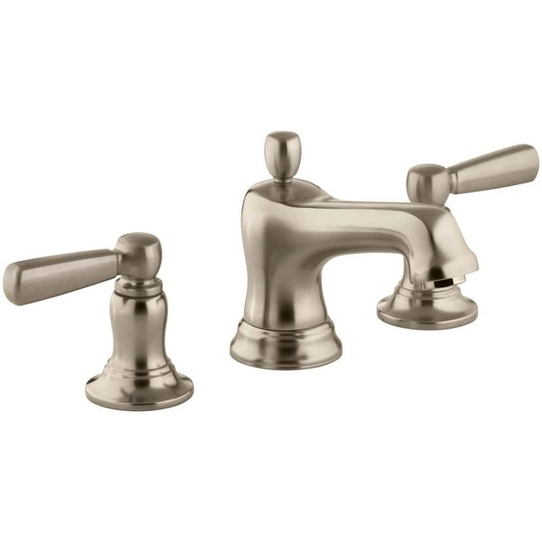 Kohler K-10577-4 Bancroft Widespread Bathroom Faucet with Ultra-Glide Valve Technology - Free Metal Pop-Up Drain Assembly with