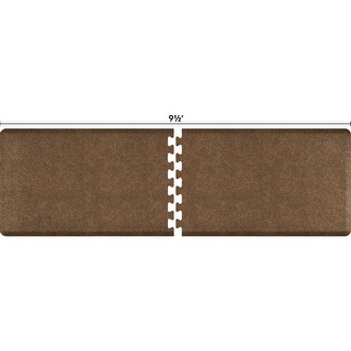 WellnessMats Anti-Fatigue Office & Kitchen Mat, PuzzlePiece Collection R Series, 9.5 Feet by 3 Feet, Granite Copper