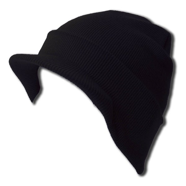 Shop Blank Cuff Beanie Visor (Comes In Many Different Colors)- Black ... 69ebfb31c729