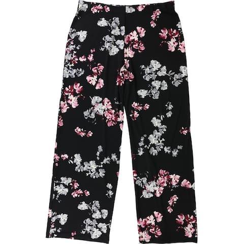 Alfani Womens Floral Casual Wide Leg Pants
