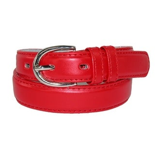 CTM® Girls' Leather 3/4 inch Basic Dress Belt