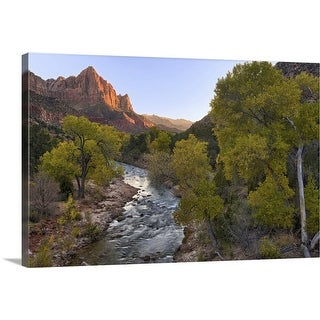 """The Watchman and Fall Color"" Canvas Wall Art"