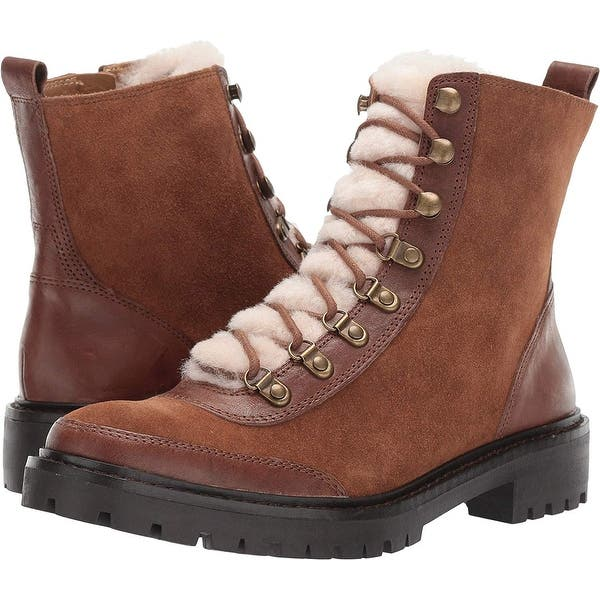 Lucky Brand Womens Ilianna Leather Closed Toe Ankle Fashion Boots