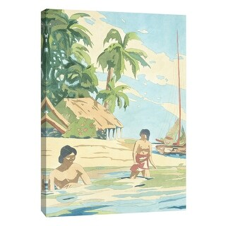 "PTM Images 9-108452  PTM Canvas Collection 10"" x 8"" - ""Isle I"" Giclee Men and Women Art Print on Canvas"