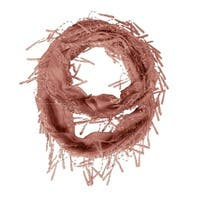 Delicate Lace Sheer Infinity Scarf With Teardrop Fringes Lightweight scarves