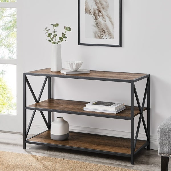 Carbon Loft Hattie 40-inch X-frame Bookshelf. Opens flyout.