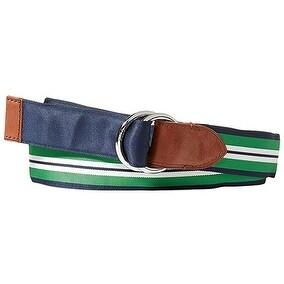 Polo Ralph Lauren Men's Reversible Grosgrain Belt Navy/Bright Green