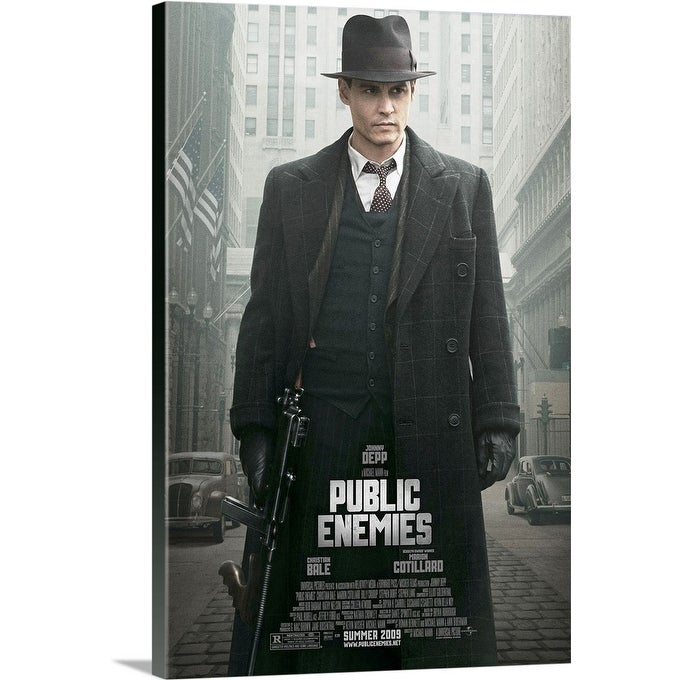 Shop Black Friday Deals On Public Enemies 2009 Canvas Wall Art Overstock 24128656