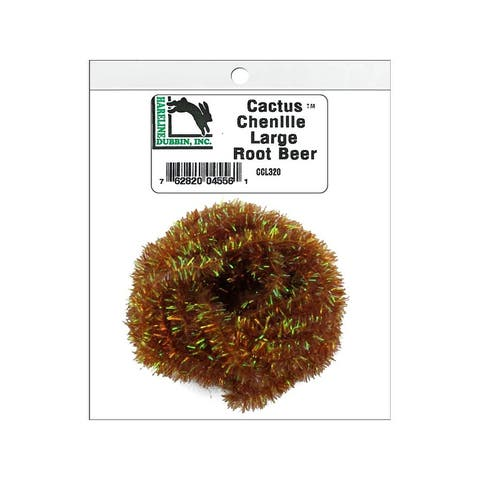 Ccl320 hareline cactus chenille lg root beer